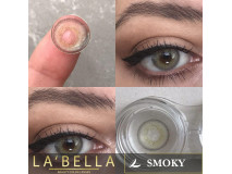 Lentile de contact colorate La Bella, 2 lentile/cutie, Real - Smoky - fara dioptrie, raza curbura 8.60 mm
